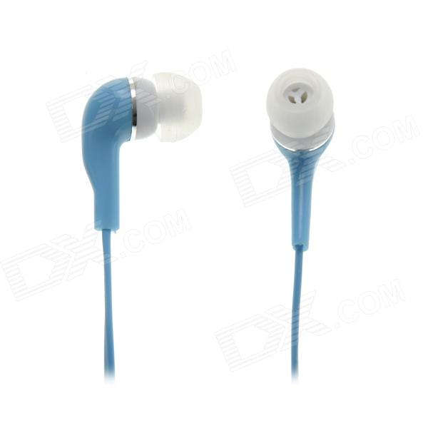 3.5mm Plug Stereo In-Ear Earphone - Blue (118cm)