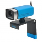 GSUO A33 USB Clip-on 300kp Webcam w / Mikrofon / LED Night Vision - Blau + Schwarz