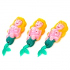 Decoration Plastic Mermaid for Aquarium / Fish Tank - Orange + Red + Green (3 PCS)