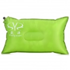 ShengYuan SW3002 Grid Pattern Outdoor Camping Auto Inflatable Polyester Cloth Cushion Pillow - Green