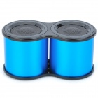 X-182 Portable Telescope Shaped 2-Channels Media Player Speaker w/ TF / USB 2.0 / 6-LED - Blue