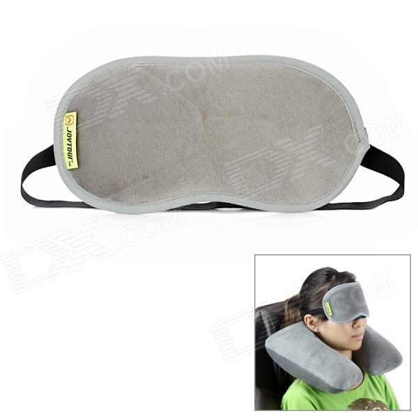 JOYTOUR Travel Sleeping Velveteen Eyeshade - Black + Grey