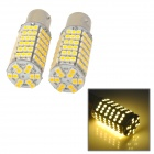 1157 / BAY15D 9W 500lm 120-SMD 3528 LED Warm White Car Steering / Brake / Tail Lamp (DC 12V / 2 PCS)