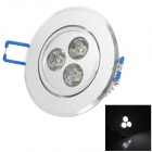 TOHDA THD-003 3W 280lm 6500K 3-LED White Ceiling Light (110~240V)