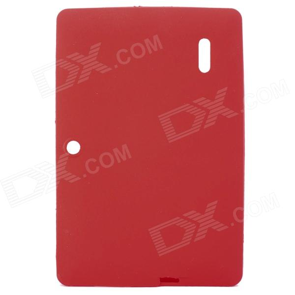 "Protective Silicone Back Case Cover for 7"" Allwinner A13 Q88 - Red"