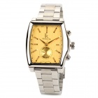 IK 98184 Stainless Steel Mechanical Self-Winding Analog Wrist Watch for Men - Golden + Silver