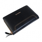 Calmoon 799 Man's Genuine Cow Leather Handbag Wallet - Black