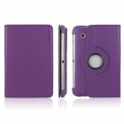 ENK-7009 360 Degree Rotating Protective PU Leather Case for Samsung P3100 / P3110 - Purple