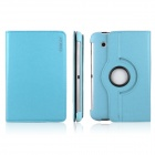 ENK-7009 360 Degree Rotating Protective PU Leather Case for Samsung P3100 / P3110 - Sky Blue