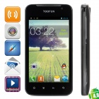 "TOOFUN W1 Dual-Core GSM Android 4.0 Bar Phone w / 4.3 ""kapazitiver Schirm, Quad-Band-und Wi-Fi - Schwarz"
