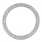 YB032907 One-Key Engine Start / Stop Chrome Rhinestone Decoration Ring - Silver
