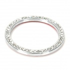 One-Key Engine Start / Stop Chrome Rhinestone Decoration Ring - Silver