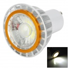 GU10 3W 200lm 6500K COB LED White Light Spotlight - White + Silver + Golden (85~265V)