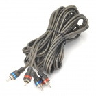 D13032905 Car Speaker / Audio Male to Male Cable for RCA Signal Transfer - Beige Grey (485cm)