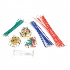 SZFE12 PVC 14 Different Lengths Jumper Wires for Bread Board - Multicolored (140 PCS)