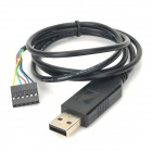 FT232 to USB TTL Wire Integrated Terminal Cable for Programmer - Black (95cm)