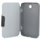 Litchi Grain Protective PU Leather Case w/ Holder for Samsung Galaxy Note 8.0 N5 100 / 110 - Black