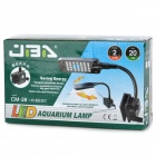JAB CM-28 Touch Sensor Switch Clip-on 2W 28-LED White + Blue Light Flexible Neck Lamp for Aquarium