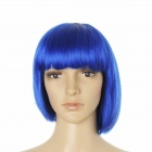 Stylish Short Straight Hair Wigs - Blue