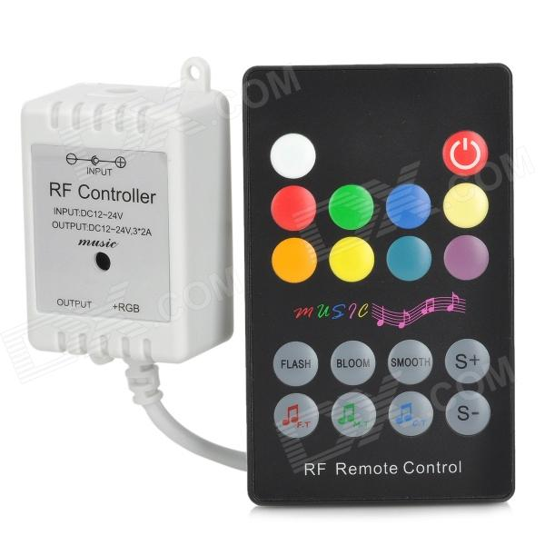 24-Key RGB Light Strip Music Controller + Mini Receiver - White + Black + Multicolored тонер static control mpt5 10kg