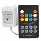 24-Key RGB Light Strip Music Controller + Mini Receiver - White + Black + Multicolored