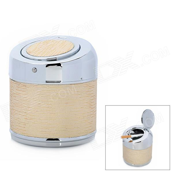 YHG001 High Quality Stainless Steel Automatic Shell Cover Ashtray - Silver + Light Golden