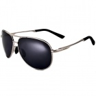 Reedoon 1310 Unisex Polarized Resin Lens UV400 Protection Sunglasses - Silver + Grey
