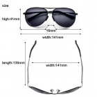 Reedoon 1310 Polarized Resin Lens UV400 Protection Sunglasses - Grey