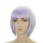 Stylish Short Straight Hair Wigs - Light Purple