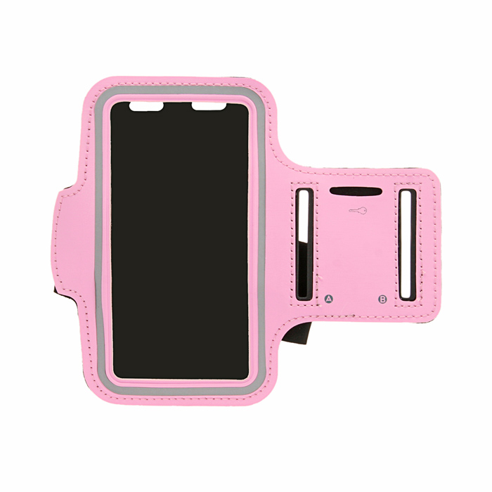 Protective Neoprene Sport Armband for Samsung Galaxy S4 / i9500 - Pink + Black + Silvery Grey