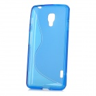 """S"" Style Protective TPU Back Case for LG Optimus F7 - Blue"