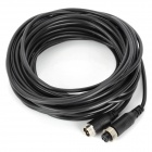 4-Core Male to Female Aviation Professional Monitoring Video Cable - Black (10m)