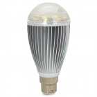 B22 7W 3500K 450lm 7-LED Warm White Light Bulb Lamp - Silber + Weiß (85 ~ 265V)