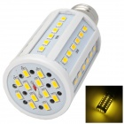 E27 15W 600lm 3500K 60-SMD 5630 LED Warm White Light Lamp w/ E27 Female to E14 Male Adapter - White