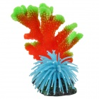 E5XY Decoration Simulation Coral + Jellyfish for Fish Tank / Aquarium - Green + Red + Blue