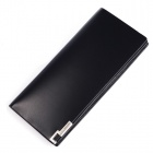 Calmoon 503 Stylish Man's Folding Genuine Cowhide Leather Wallet - Black