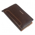 Calmoon 799 Man's Genuine Cow Leather Handbag Wallet - Brown