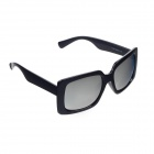 HongChang Stylish UV 400 Protection Resin Lens Sunglasses - Black