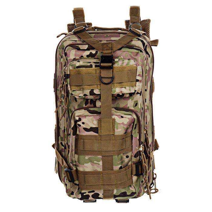 3P Tactical Outdoor Camping Hiking Double Shoulder Backpack Bag - CP Camouflage fire maple sw28888 outdoor tactical motorcycling wild game abs helmet khaki