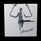 Creative Handbag Style Rope-skipping Pattern Wall Clock - White + Black (1 x AAA)