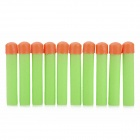 Soft Foam Bullets Whistle for Gun Pistol Toy - Orange + Green (10PCS)