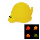 Cute Children Bathing Funny LED Clingfish Toy - Yellow (2 x LR616)