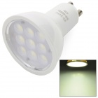 GU10 4W 280lm 6500K 9-SMD 2835 LED White Light Lamp - White (AC 85~245V)