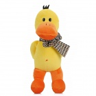 Bowknot Bow Duck Short Floss Toy w/ Suction Cup - Yellow + Orange