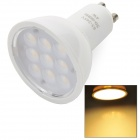 GU10 4W 280lm 3000K 9-SMD 2835 LED Warm Light Lamp - White (AC 85~245V)