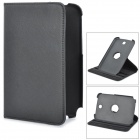 360 Degree Rotatable Litchi Grain Protective PU Leather Case for Samsung Galaxy Tab N5100 - Black
