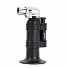 1300 Degree Welding Gun / Windproof Butane Jet Lighter - Black + Silver