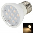 E27 3W 210lm 9-5050 SMD Warm White Light LED Lampe - Weiß + Silber (AC100-240V)