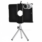 12X Optical Zoom Telephoto Lens + Shield Cover Case + TrIpod for Ipad MINI - Black + Silver
