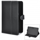 "Universal Magnetic Litchi Grain Protective PU Leather Case for 9.7"" or Smaller Tablets - Black"